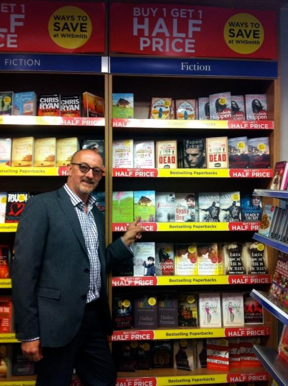 It's always such a lovely shock when you spot your book in a bookshop!